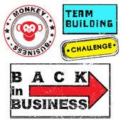 Serie de sellos de negocios — Foto de Stock