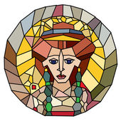 Stained glass empress — Stock Photo