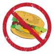 Hamburger forbidden — Stock Photo #32516845