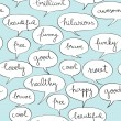 Stock Photo: Happy speech bubbles pattern