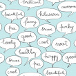 Happy speech bubbles pattern — Stock Photo