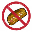 Hot dog banned — Foto de Stock