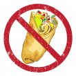 Shawarma banned — Stock Photo