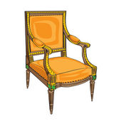Classical chair on white — Stock Photo