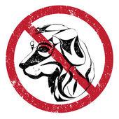 Dogs forbidden — Stock Photo