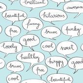 Zadowolony mowie pęcherzyki wzór — Zdjęcie stockowe