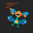 Stock Photo: Halloween bat card