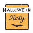 Halloween party stamp — Stock Photo