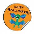 Halloween sticker — Foto de Stock