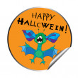 Halloween sticker — Stock Photo