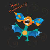 Halloween bat card — Stock Photo