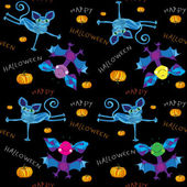 Happy halloween kids pattern — Stockfoto