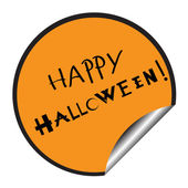 Happy halloween sticker — Stock Photo