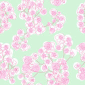 Colored orchids pattern — 图库照片