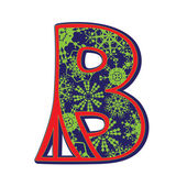 Winter letter B — Stock Photo