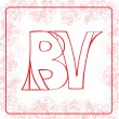 BV monogram — Stock Photo