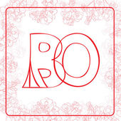 BO monogram — Stock Photo
