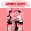 Restaurant lovers — Stock Photo