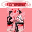 Restaurant lovers — Stock Photo #43322375
