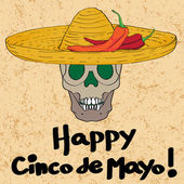 Cinco de mayo skull — Stockfoto
