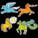 Horses stickers — Stock Photo #46569535