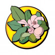 Постер, плакат: Apple flower clip art yellow