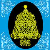 Linda árvore de Natal abstrata — Vetor de Stock