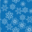 Abstract vector pattern with a set of beautiful snowflakes. — 图库矢量图片
