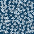 Abstract vector pattern with a set of beautiful snowflakes. — Stock Vector