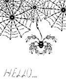 A aranha agradável que vai cair numa teia — Vetorial Stock
