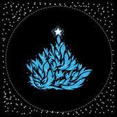 Beautiful abstract Christmas tree — Stock Vector