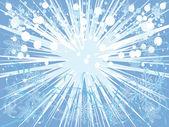 Prachtige blauwe achtergrond met verschillende elementen van de winter — Stockvector