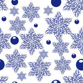 Seamless with snowflakes — Stock Vector