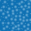 Vector winter pattern with snowflakes for your design — Stock Vector