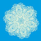 Abstraktní izolované vector květina — Stock vektor