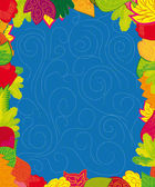 Set of different abstract colored leaves — Vecteur