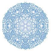 Flor abstrata vetor isoladas ou floco de neve — Vetor de Stock