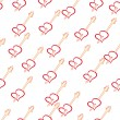 Vector de stock : Beautiful background with hearts