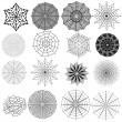 Set of spiderweb. Vector collection - Stock Vector