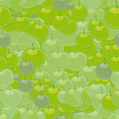 Green apples on a blue background — Stock Vector