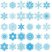 Collectie van prachtige winter sneeuwvlokken. vector set — Stockvector