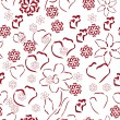 Beautiful background with hearts — Image vectorielle