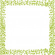 Stock Vector: Frame from leaves for your design