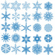 Stock Vector: Collection of beautiful winter snowflakes. vector set