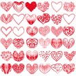 Collection of hearts — Stock Vector #25651513