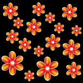 Vector pattern with abstract mesh flowers — Stock Vector