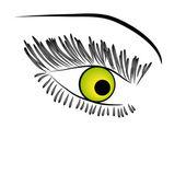 Schöne grüne Frau Auge. Vektor-illustration — Stockvektor