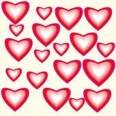 Beautiful background with hearts — Stockvektor