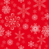 Seamless pattern with winter snowflakes — Stock vektor