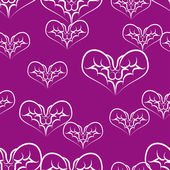 Beautiful background with hearts — Stock Vector